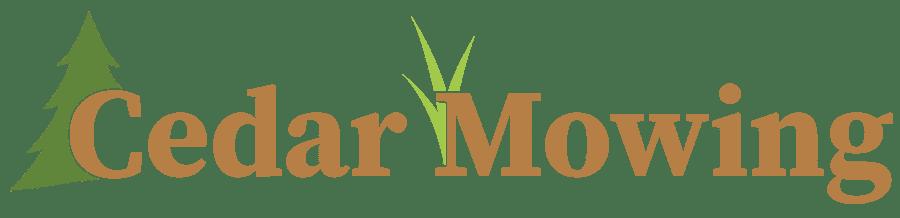 Cedar Mowing Logo